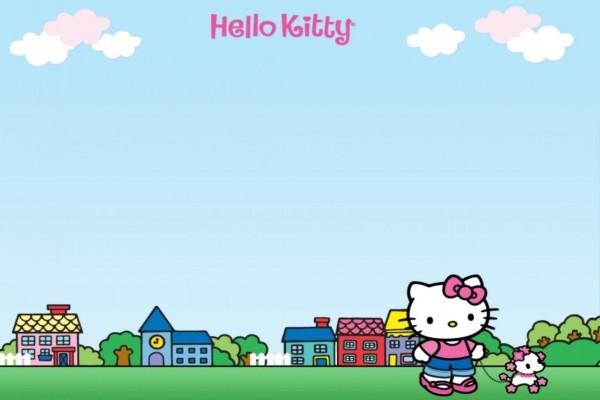 Hello Kitty paseando un perrito