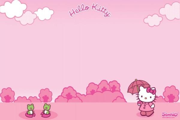 Hello Kitty paseando