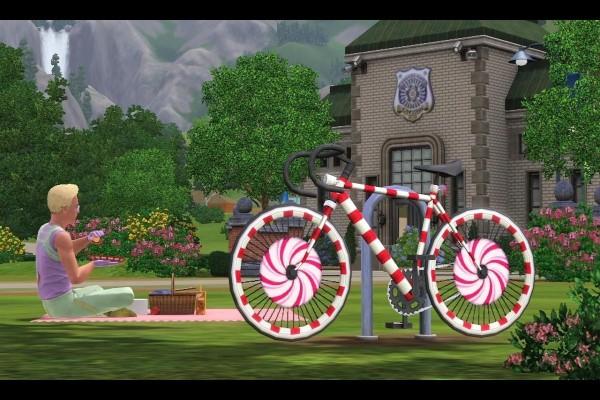 """Bicicleta de colores en """"Los Sims 3"""""""