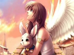 Ángel mirando al cielo