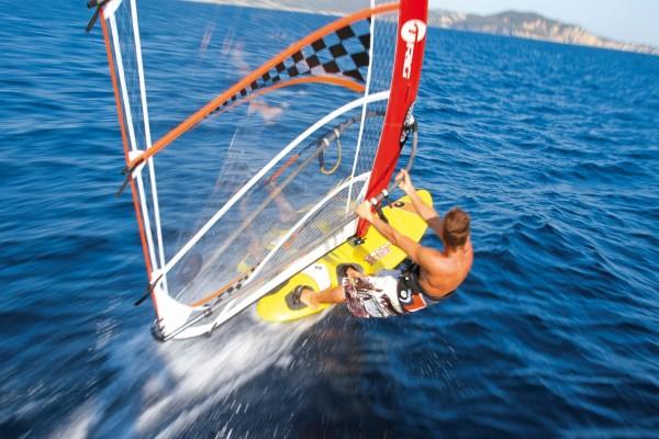 Velocidad en una tabla de windsurf