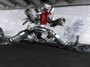 Postal: Robot bélico