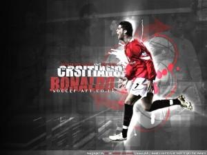 Postal: Cristiano Ronaldo con la camiseta del Manchester United