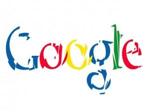 Postal: Logo de Google fragmentado
