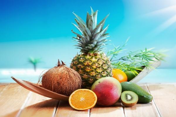 Piña, Coco, Kiwi, Naranja, Aguacate y Mango