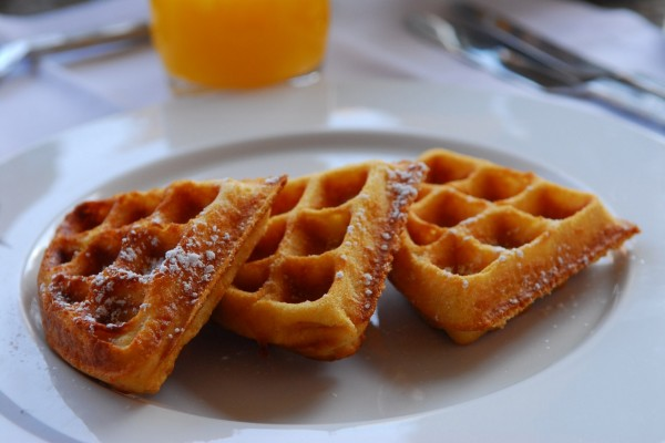 Waffles para desayunar