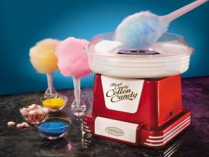 Postal: Algodón de azúcar de colores
