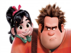 Postal: Vanellope y Ralph