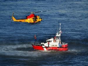 Ejercicio de rescate de la Fuerza Aérea y la Guardia Costera de Canadá