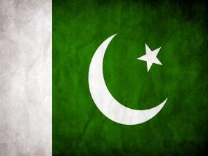 Postal: Bandera de Pakistán