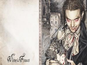 Postal: Vampiro, de Victoria Francés