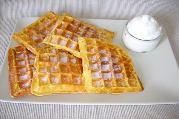 Waffles con azúcar