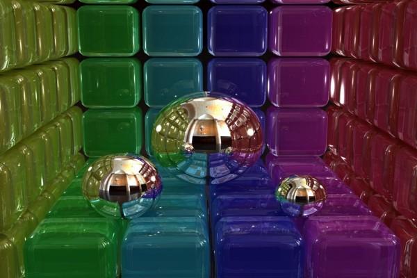 Bolas y cubos en 3D