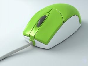 Ratón verde y blanco