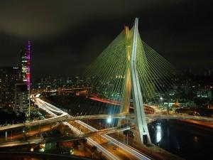Postal: Puente Octavio Frias de Oliveira (Sao Paulo, Brasil)