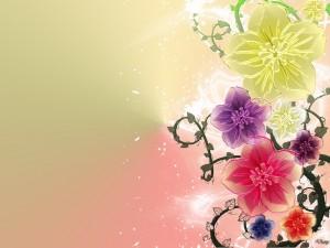 Postal: Arte floral