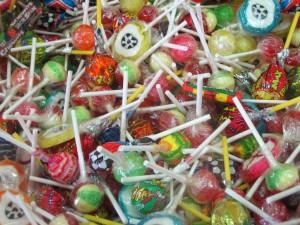 Caramelos con palo