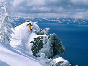 Postal: Esquiando