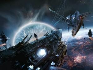 Postal: Batalla espacial