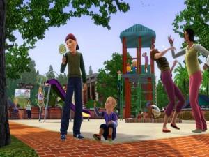 Postal: Los Sims 3, en el parque
