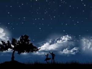 Postal: Bailando bajo las estrellas