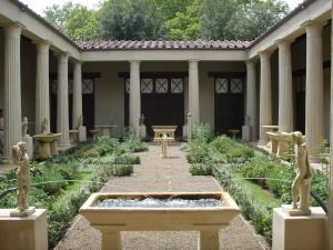 Postal: Jardín romano en la Casa de los Vettii, Pompeya