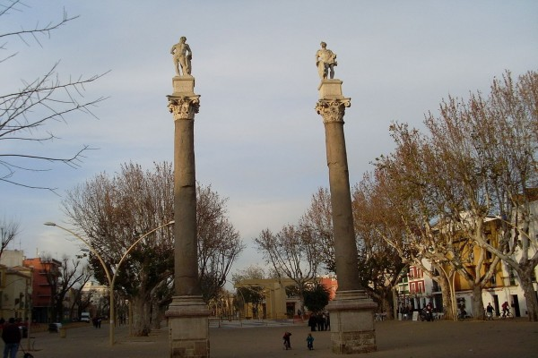 Alameda de Hércules, en Sevilla, España