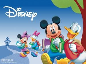 Postal: Personajes de Disney