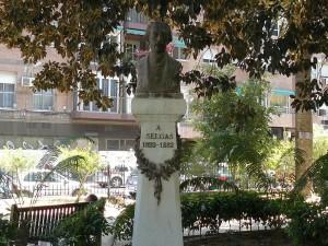 Postal: Monumento a José Selgas, en el Jardín de Floridablanca