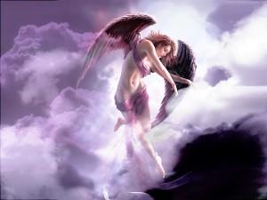Postal: Ángel celestial