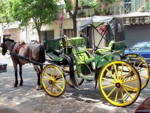 """Postal: """"Mateo"""" con """"Fileteado porteño"""", en el barrio de Colegiales, ciudad de Buenos Aires"""