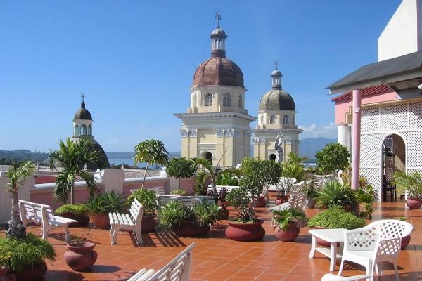 Azotea del Hotel Casa Grande, en Santiago de Cuba