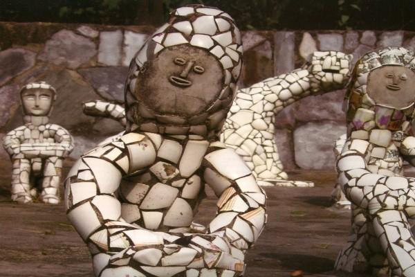 Detalle del jardín de rocas Nek Chand