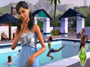 Los Sims 3 en la piscina