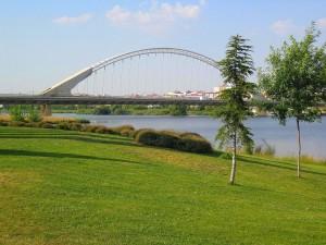 Postal: El puente Lusitania de Mérida
