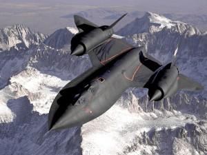 Postal: Lockheed SR-71, en las montañas de Sierra Nevada