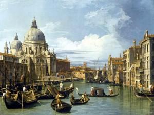 El Gran Canal y la iglesia de la Salute, por Canaletto (1730)