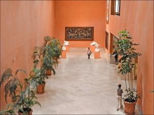 Vestíbulo del Museo Thyssen-Bornemisza de Madrid (España)