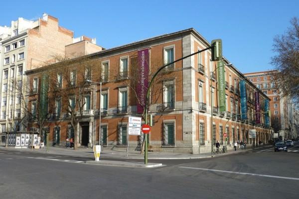 Vista exterior del Palacio de Villahermosa de Madrid (España)