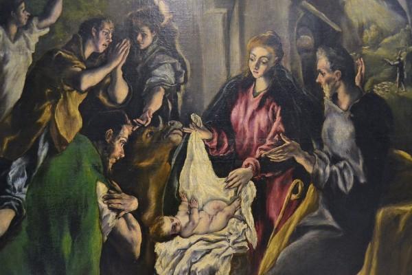 """Detalle de la """"Adoración de los Pastores"""", El Greco"""