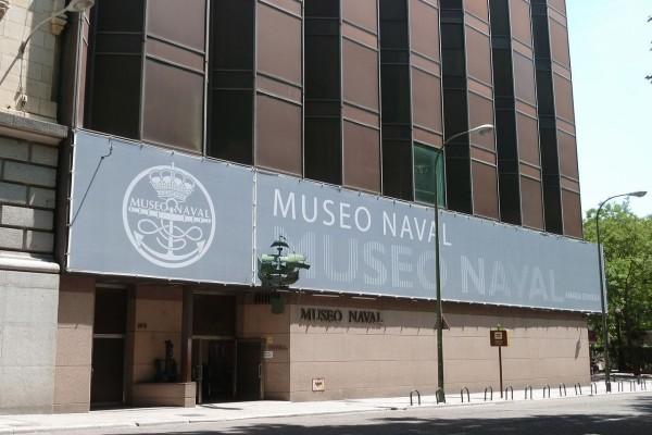 Fachada del Museo Naval de Madrid (España)