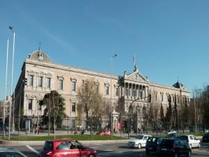 Fachada de la Biblioteca Nacional de España, en Madrid