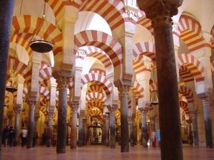 Postal: Columnas de la Mezquita de Córdoba (Andalucía, España)
