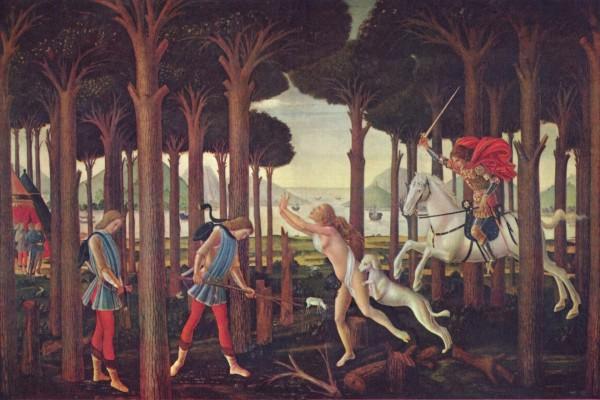 Nastagio degli Onesti, primer episodio (Museo del Prado)