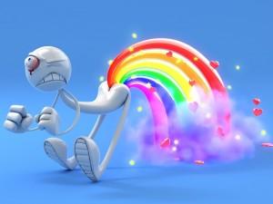 Postal: Sacando el arco iris