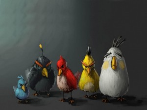 Divertidos personajes de Angry Birds