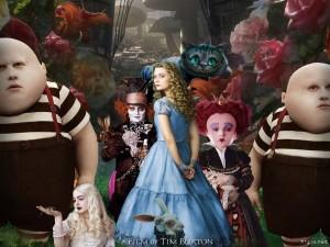 Alicia en el país de las maravillas, una película de Tim Burton