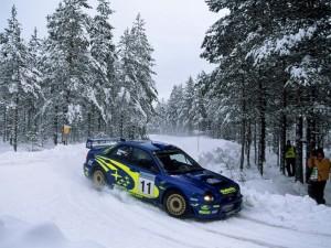 Postal: Rally en la nieve
