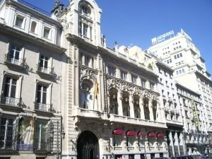 Postal: El edificio del Casino de Madrid (España)