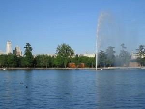 Postal: Lago de la Casa de Campo de Madrid